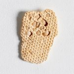 Leah Carless, Not yet titled, (eggshell, bubble wrap fragment)