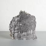 Andrew Gillespie, Silkscreen prints on cast concrete, Rocky Landscape