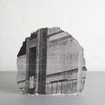 Andrew Gillespie, Silkscreen prints on cast concrete, Rocky