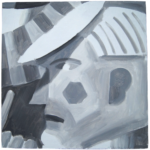 Studies (black and white 1), oil on board